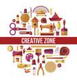 creative zone painting art hobby and craft