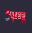 cut beef set vector image vector image