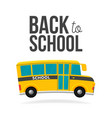 cute cartoon school bus with color and back to vector image vector image