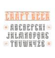 decorative serif font in retro style vector image vector image