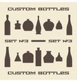 Different bottle types silhouette icon set vector image vector image