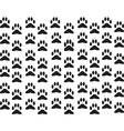 Dog foot print background vector image vector image