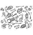 doodle set coffee vector image vector image