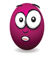 emotions eggs coloured shocked vector image vector image
