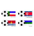 Football of Khakassia North Korea Kiribati vector image vector image