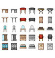 furniture and interior cartoonmonochrom icons in vector image