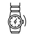 gold rap watch icon outline style vector image