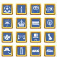 great britain icons set blue vector image vector image