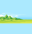 green mountains outdoor landscape vector image