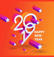 happy new year poster 2019 template with stars of vector image