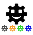 happy service gear smiley icon vector image