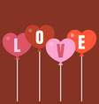 heart balloon with letters love vector image vector image