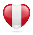 Heart icon of Peru vector image