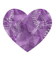 heart with a geometric pattern crystal or vector image vector image
