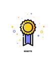 icon of elegant golden rosette for success vector image vector image