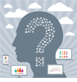 Infographics Concept with Human Head vector image