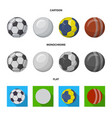 isolated object of sport and ball logo collection vector image vector image
