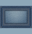 jeans frame with sequins vector image vector image