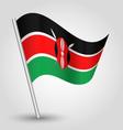 kenyan flag on pole vector image vector image