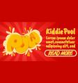 kiddie pool concept banner comics isometric style vector image