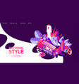 landing page for individual sewer or woman clothes vector image vector image