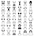 Line animals icon vector image vector image