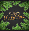 merry christmas holiday greeting card background vector image
