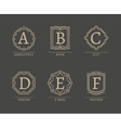 Monogram Logos vector image