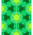 Multicolor geometric pattern in bright green vector image vector image