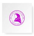 muslim hijab fashion logo design vector image vector image