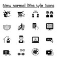 new normal life style icons set graphic design vector image vector image