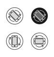 phone rotate symbols set smartphone rotation icon vector image