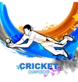 Player fielding in cricket championship vector image vector image