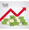 Profit icon design vector image vector image