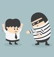 robbing a businessman vector image vector image