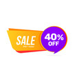 sale banner discount offer big sale 40 percent vector image
