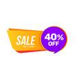 sale banner discount offer big sale 40 percent vector image vector image