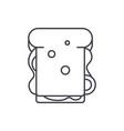 sandwich line icon concept sandwich linear vector image vector image