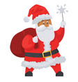 santa claus icon isolated on white background vector image
