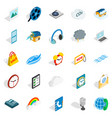 season icons set isometric style vector image vector image