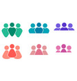 set of different multicolored icons of men and vector image vector image
