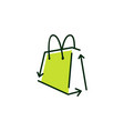 shopping bag recycle logo icon vector image
