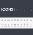 space thin line icons vector image