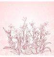 spring flowers outline background vector image vector image