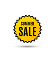summer sale special offer price sign vector image vector image