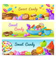 Sweet Candy Banner Set vector image vector image