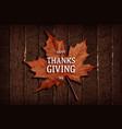 Thanksgiving banner on wooden background