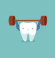 tooth workout for good healthy dental vector image vector image
