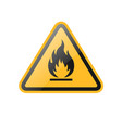 triangle fire warning sign vector image vector image