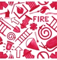 Watercolor background with firefighting symbols or vector image vector image
